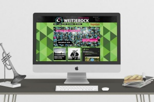 Website, app, spandoeken, flyers & folders voor Weitjerock